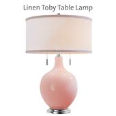 Linen Toby Floor Lamp