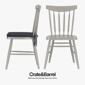 Crate & Barrel - Willa Dove Wood Dining Chair