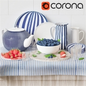 Berries and dishes