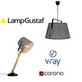 Настольная лампа и подвесной светильник, модель LEGEND, от компании LampGustaf, Швеция.