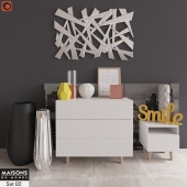 Сommode with decor Maisons du Monde Set 02