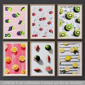 Fruit collection framed set-01 for kitchen