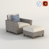PVC Wicker Outside Arm Chair
