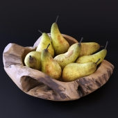 Decorative dish with pears