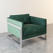 T-back lounge chair - Milo Baughman