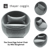 The Good Egg Swivel Chair by Milo Baughman