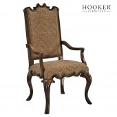 Hooker Furniture Dining Room Canterbury Ebony Arm Chair