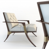 Baker, ATHENS LOUNGE CHAIR TUFTED, 6134C-1