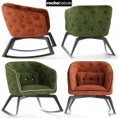 Кресло rochebobois QUADRILLE Rocking armchair