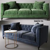 Leavenworth Side Table & Graham Velvet Sofa