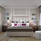 Universal California - Malibu King Bed with Paneled Headboard