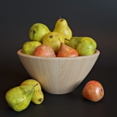 Vase with pears