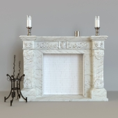 Classic fireplace made of marble K-084 Provence