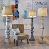 """A set of floor lamps """"KIRKLANDS"""" and a chair """"JULIA GRUP JAN"""""""