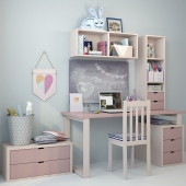Writing desk and decor for a child 5