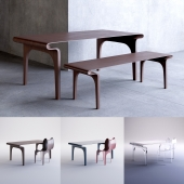 Contour table with chair