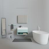 Bath set Inbani Labo, Vesta, Tray, Sento.