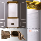 Ceramic oven in classic style