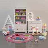 Decoration set for girl-room