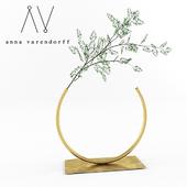 Anna Varendorff brass vase 2