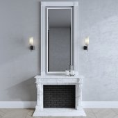 Fireplace, luxdeco wall lamp
