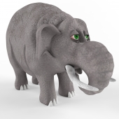 Children's plastic toy Elephant