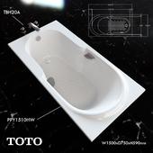 Toto bathtub PPY1510HW faucet TBH20A