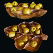Apples, a bowl of teak