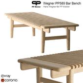 Hans Wegner PP Mobler 589 bar bench