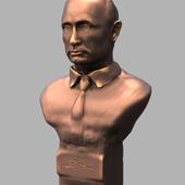3d model Bust of V.V. Putin bronze