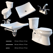 Bathroom fittings set