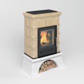 Tiled stove-fireplace ABX Britania L