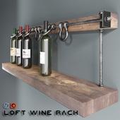 Loft wine rack
