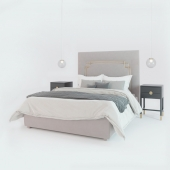 Bedside tables T014, Any Home and bed