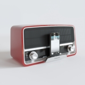Philips radio receiver in retro style + iphone5s