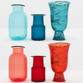 3 Vases (Blue, Red, Green)
