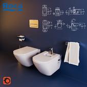 Toilet and Bidet Roca The Gap