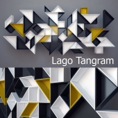 Lago Tangram shelving