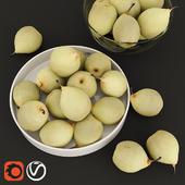 HD Realistic Japanese Pears