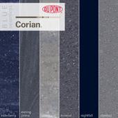 Dupont Corian Kitchen Countertops Blue 2