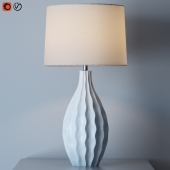 Otranto Ivory Crackle Table Lamp