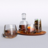 Williams Sonoma Estate Double Old-Fashioned, Set of 4