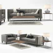 Crate & Barrel Aidan Sofa and Aidan Chair