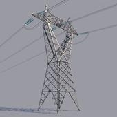 High voltage power line (reverse delta tower)