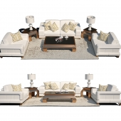 Set of furniture AICO Michael Amini White