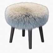 Round Mongolian lamb stool