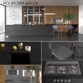 Kitchen Poliform Varenna Artex (vray GGX, corona PBR)