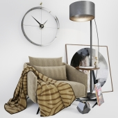 Armchair Costura with a blanket