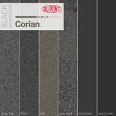 Dupont Corian Kitchen Countertops Black 3