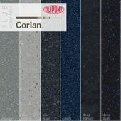 Dupont Corian Kitchen Countertops Blue 1